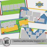 Seamless Layflat Everyday Templates Set 1