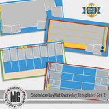 Seamless Layflat Everyday Templates Set 2