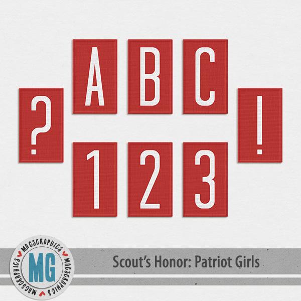 Patriot Girls Alpha Digital Art - Digital Scrapbooking Kits
