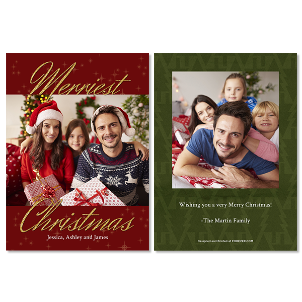 Merriest Christmas Red Card