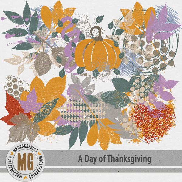 A Day of Thanksgiving Hodge Podge Digital Art - Digital Scrapbooking Kits