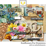 Sunflowers For Dominica Add-On Embellishments