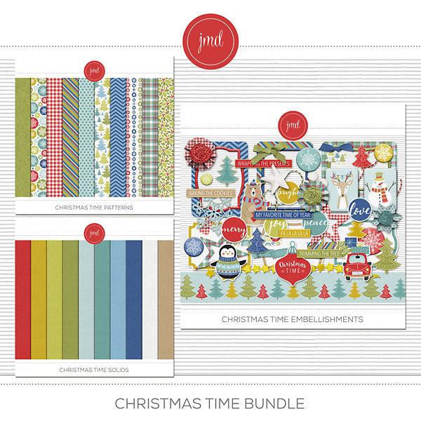 Christmas Time Bundle Digital Art - Digital Scrapbooking Kits