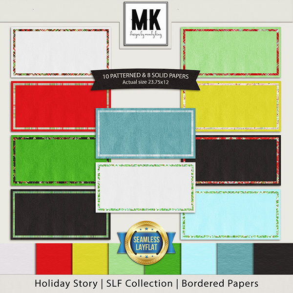 Holiday Story - SLF Collection - Bordered Papers
