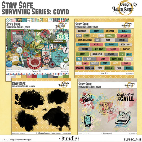Stay Safe Bundle Digital Art - Digital Scrapbooking Kits