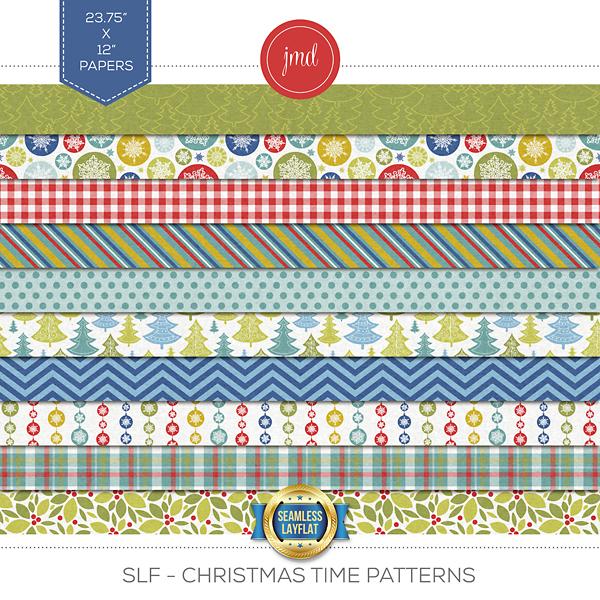 SLF - Christmas Time Patterns Digital Art - Digital Scrapbooking Kits