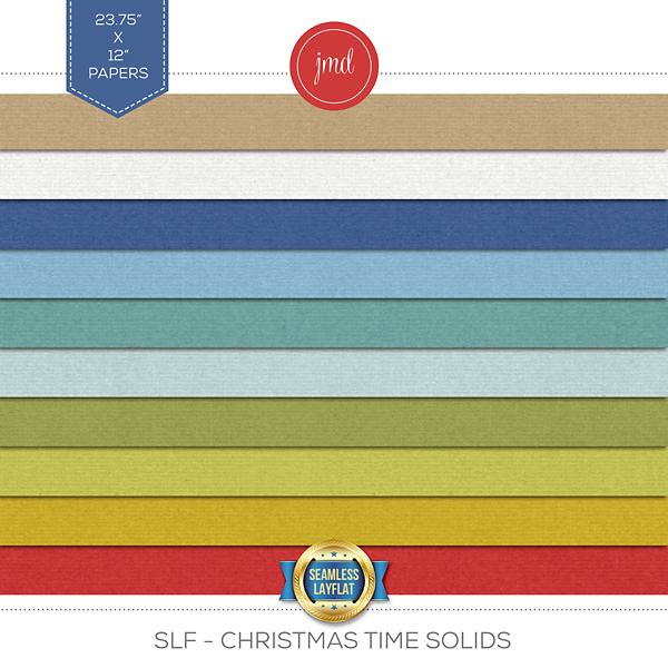 SLF - Christmas Time Solids Digital Art - Digital Scrapbooking Kits