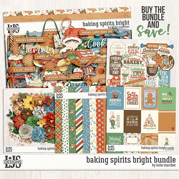 Baking Spirits Bright Bundle Digital Art - Digital Scrapbooking Kits