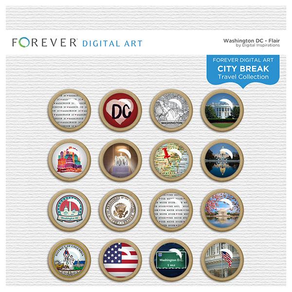 City Break - Washington DC - Flair Digital Art - Digital Scrapbooking Kits