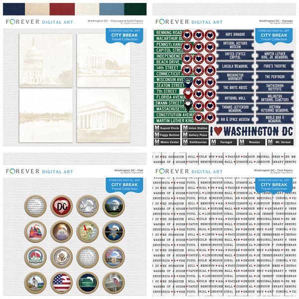 City Break - Washington DC - BUNDLE Digital Art - Digital Scrapbooking Kits