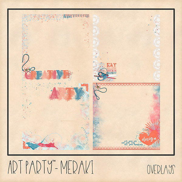 Meraki Overlays Digital Art - Digital Scrapbooking Kits