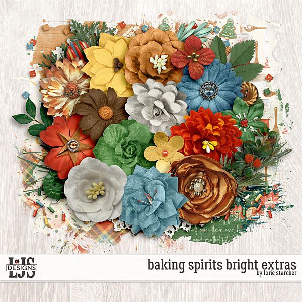 Baking Spirits Bright Extras Digital Art - Digital Scrapbooking Kits