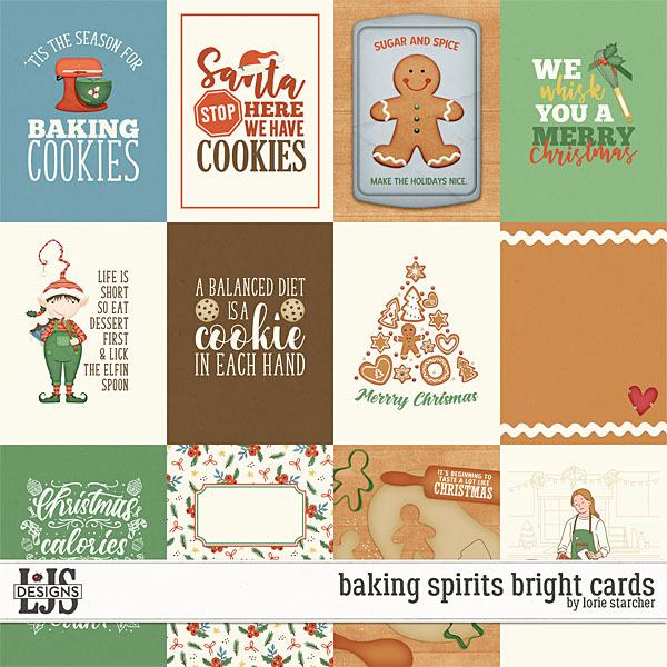 Baking Spirits Bright Cards Digital Art - Digital Scrapbooking Kits