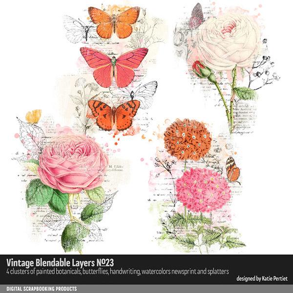 Vintage Blendable Layers 23 Digital Art - Digital Scrapbooking Kits