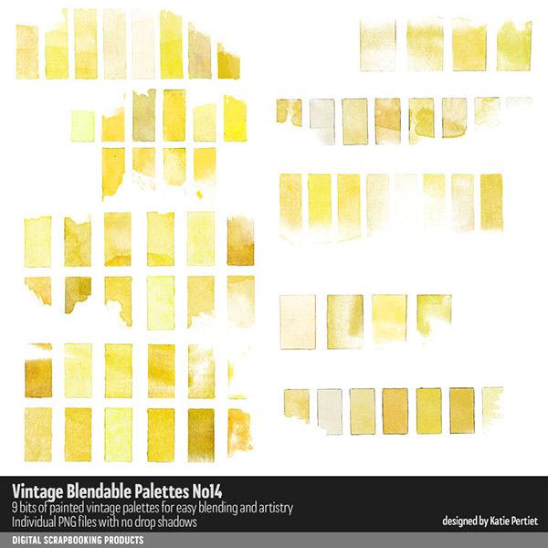 Vintage Blendable Palettes 14 Digital Art - Digital Scrapbooking Kits