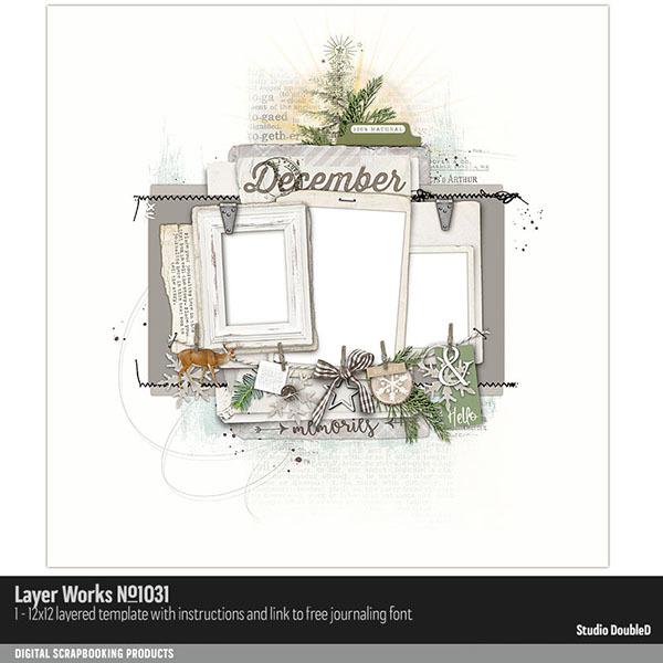 Layer Works 1031 Digital Art - Digital Scrapbooking Kits