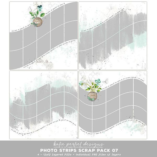 Photo Strips Scrap Pack 07 Digital Art - Digital Scrapbooking Kits