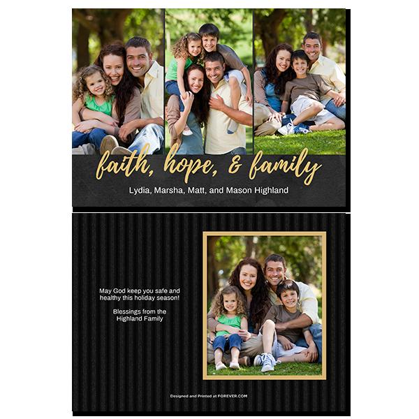 Faith Hope Family Card