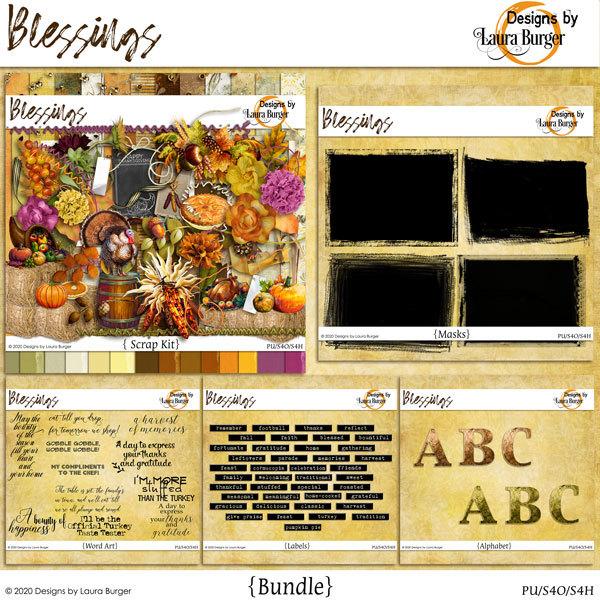 Blessings Bundle Digital Art - Digital Scrapbooking Kits