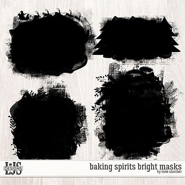 Baking Spirits Bright Masks Digital Art - Digital Scrapbooking Kits