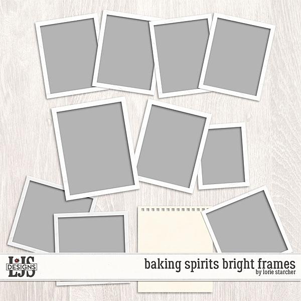 Baking Spirits Bright Frames Digital Art - Digital Scrapbooking Kits