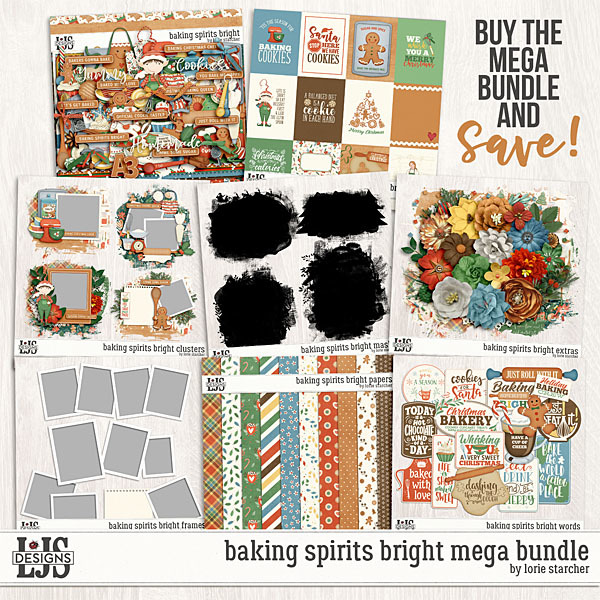 Baking Spirits Bright Mega Bundle Digital Art - Digital Scrapbooking Kits