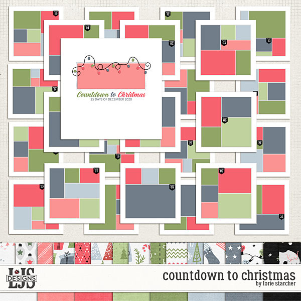 Countdown To Christmas Digital Art - Digital Scrapbooking Kits