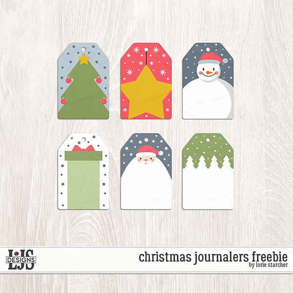 Christmas Journalers Freebie Digital Art - Digital Scrapbooking Kits
