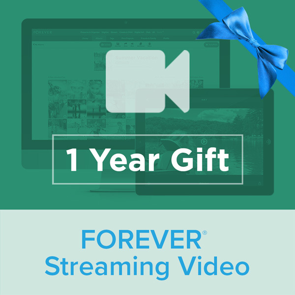 Streaming Video Plan - 1 Year GiftGive the gift of Digital Art, Software, Storage, and Video plans. Make a lasting impression with our hand-selected favorites from FOREVER®.