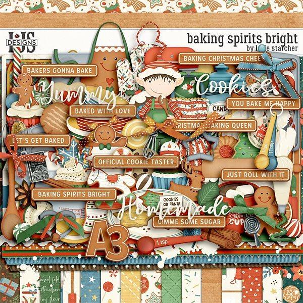 Baking Spirits Bright Digital Art - Digital Scrapbooking Kits