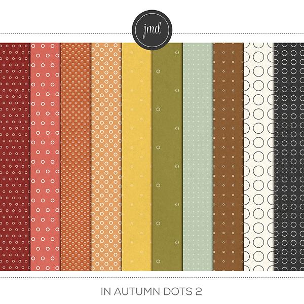 In Autumn Dots 2 Digital Art - Digital Scrapbooking Kits