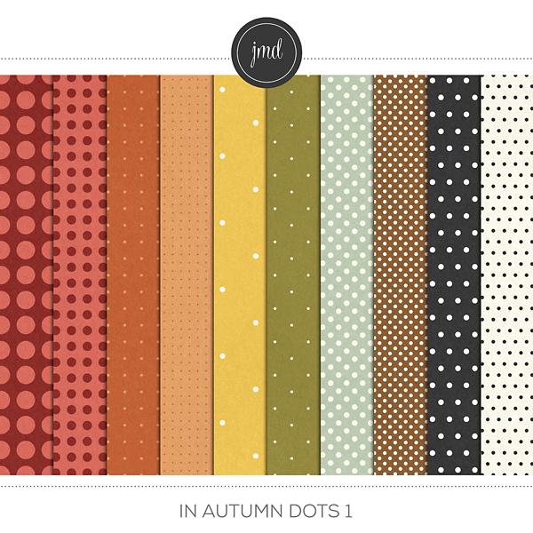 In Autumn Dots 1 Digital Art - Digital Scrapbooking Kits
