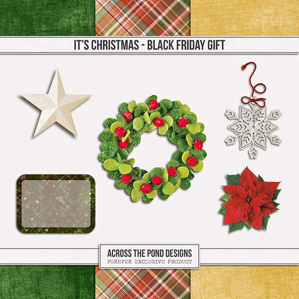 It's Christmas - Black Friday Gift Digital Art - Digital Scrapbooking Kits
