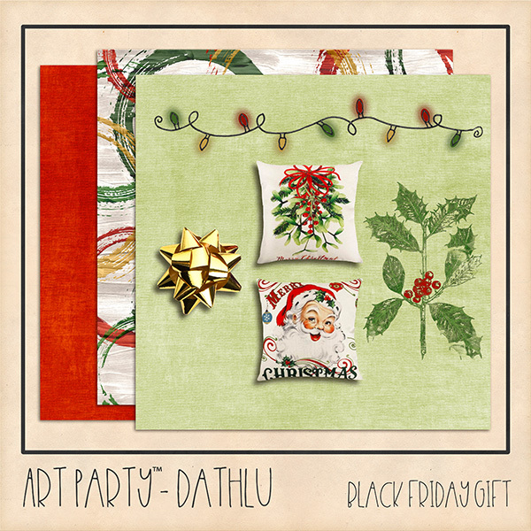 Dathlu - Black Friday Gift Digital Art - Digital Scrapbooking Kits