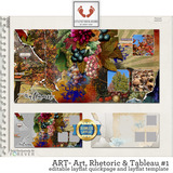 ART - Art, Rhetoric and Tableau #1 Seamless Layflat Quick Pages and Templates