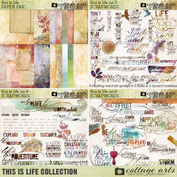 This is Life Collection Digital Art - Digital Scrapbooking Kits