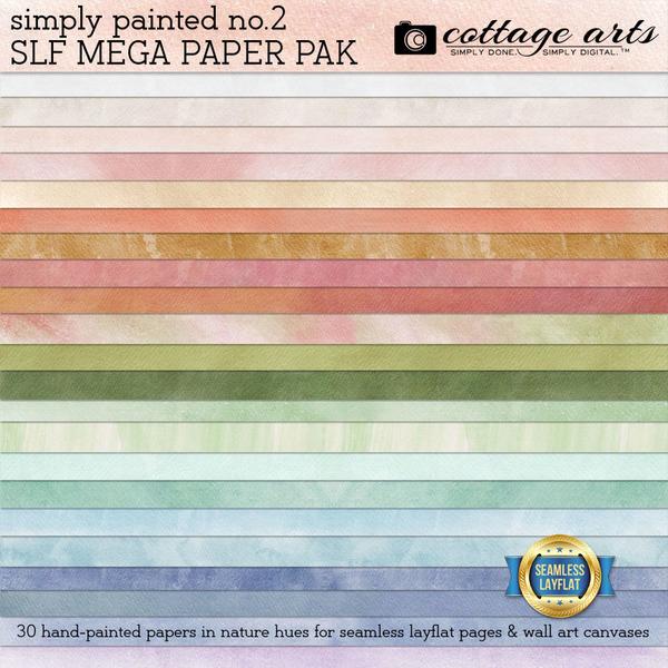 Simply Painted 2 SLF Mega Paper Pak Digital Art - Digital Scrapbooking Kits