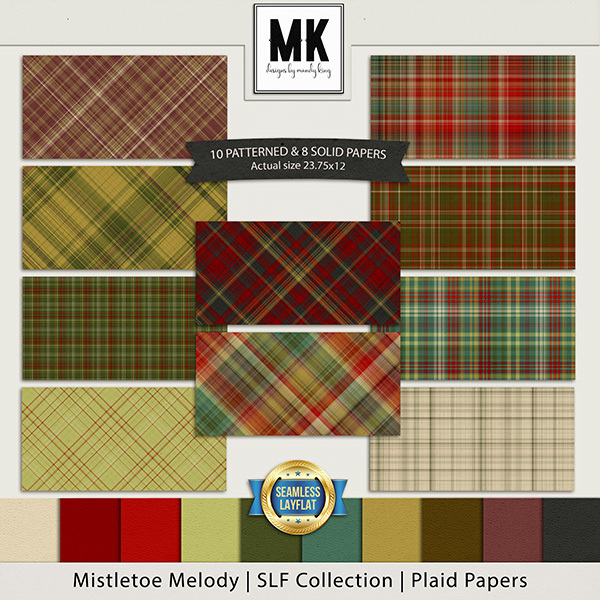 Mistletoe Melody - SLF Collection - Plaid Papers Digital Art - Digital Scrapbooking Kits
