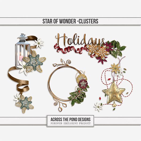 Star of Wonder Clusters Digital Art - Digital Scrapbooking Kits