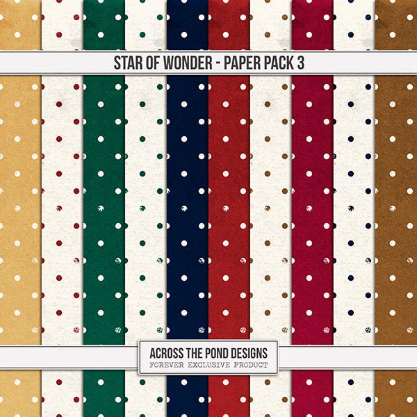 Star of Wonder Paper Pack 3 Digital Art - Digital Scrapbooking Kits
