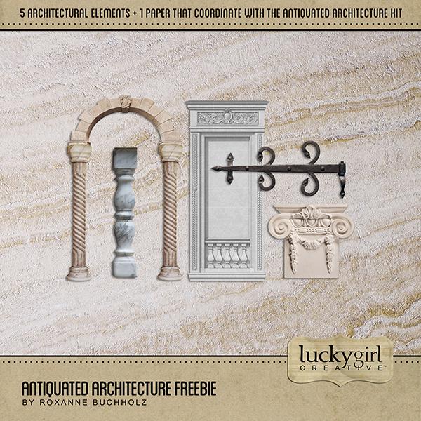 Antiquated Architecture Freebie Digital Art - Digital Scrapbooking Kits