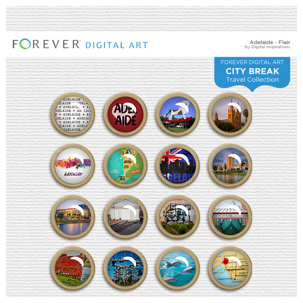 City Break - Adelaide - Flair Digital Art - Digital Scrapbooking Kits