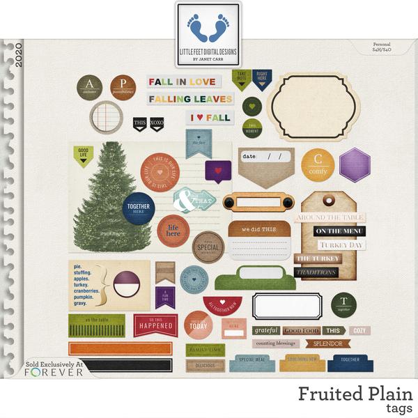 Fruited Plain Tags Digital Art - Digital Scrapbooking Kits