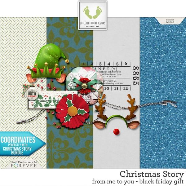 Christmas Story - Black Friday Gift Digital Art - Digital Scrapbooking Kits