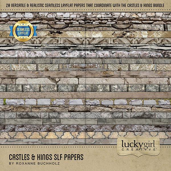 Castles & Kings SLF Papers Digital Art - Digital Scrapbooking Kits