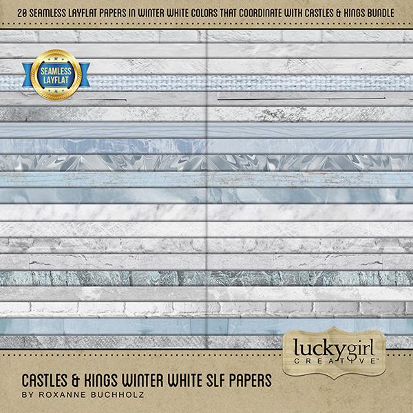 Castles & Kings Winter White SLF Papers
