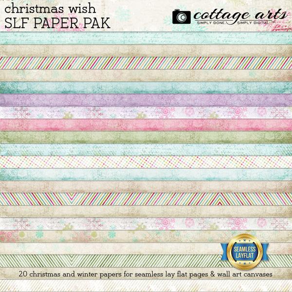 Christmas Wish SLF Paper Pak Digital Art - Digital Scrapbooking Kits