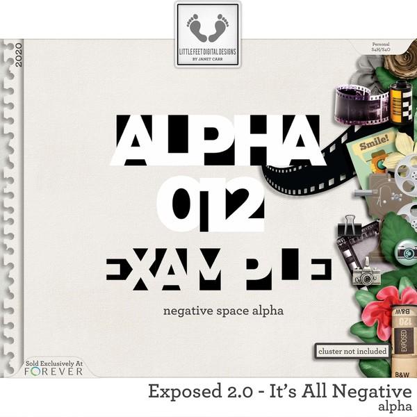 Exposed 2.0 - It's All Negative Alpha Digital Art - Digital Scrapbooking Kits