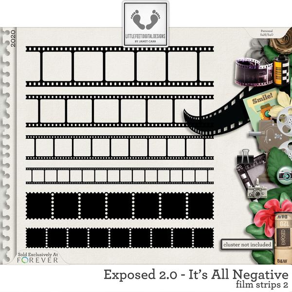 Exposed 2.0 - It's All Negative Film Strips #2 Digital Art - Digital Scrapbooking Kits