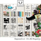 Exposed 2.0 - It's All Negative Journaling Postcards